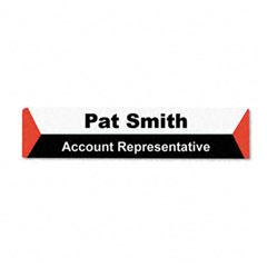 Advantus - panel wall sign name holder, acrylic, 9 x 2, 6/pack, clear, sold as 1 pk