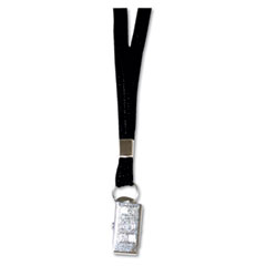 Advantus - deluxe lanyards, clip style, 36-inch long, black, 24/box, sold as 1 bx