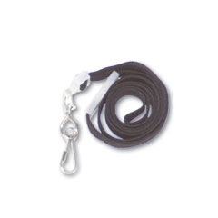Advantus - deluxe safety lanyards, j-hook style, 36-inch long, black, 24/box, sold as 1 bx