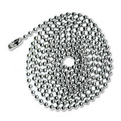 Advantus - id badge holder chain, ball chain connector style, 36-inch long, chrome, 100/box, sold as 1 bx