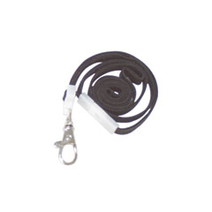 """Advantus 75421 Deluxe Safety Lanyards, Lobster Claw Hook Style, 36"""" Long, Black, 24/Box"""