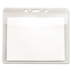 Advantus - pvc-free badge holders, vertical, 3-inch x 4-inch, clear, 50/pack, sold as 1 pk