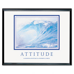 Advantus 78024 Attitude/Waves Framed Motivational Print, 30 X 24