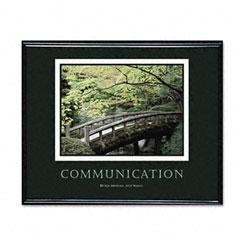 Advantus 78026 Communication Framed Motivational Print, 30 X 24