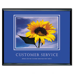 Advantus 78027 Customer Service Framed Motivational Print, 30 X 24