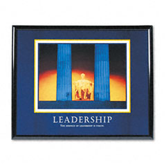 Advantus 78035 Leadership Framed Motivational Print, 30 X 24