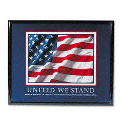 Advantus 78036 United We Stand Framed Motivational Print, 30 X 24