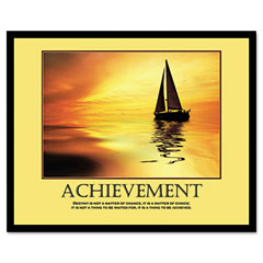 Advantus 78081 Achievemant Framed Motivational Print, 24 X 30