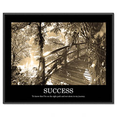 Advantus 78161 Success Framed Sepia Tone Motivational Print, 30 X 24