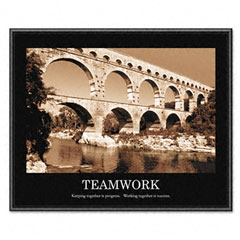 Advantus 78162 Teamwork Framed Sepia-Tone Motivational Print, 30 X 24