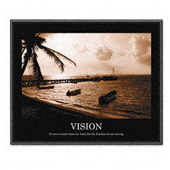 Advantus 78163 Vision Framed Sepia-Tone Motivational Print, 30 X 24