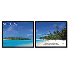 Advantus 78166 Success Framed Motivational Print, 30 X 24, 2/Pack