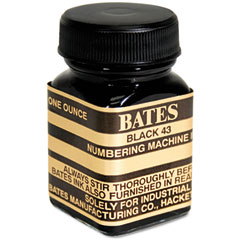 Advantus - refill ink for numbering machines, 1 oz bottle, black, sold as 1 ea