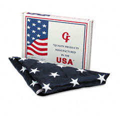 Advantus - all-weather outdoor u.s. flag, heavyweight nylon, 4 ft. x 6 ft., sold as 1 ea