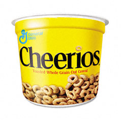 Advantus SN13896 Cheerios Breakfast Cereal, Single-Serve 1.3Oz Cup, 6 Cups/Pack