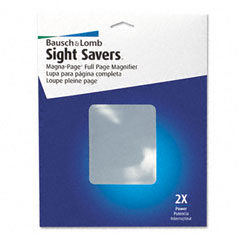 Bausch & lomb - 2x magna-page full-page magnifier w/molded fresnel lens, 8-1/4-inch x 10-3/4-inch, sold as 1 ea