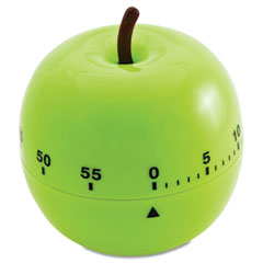 Baumgartens - shaped timer, 4 1/2-inch dia., green apple, sold as 1 ea