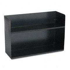Buddy 1221-4 Two-Tier Book Rack, Steel, 30 1/8 X 10 1/2 X 20, Black