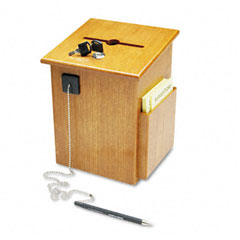 Buddy 5622-11 Solid Wood Suggestion Box With Locking Top, 7-1/2 X 7-1/4 X 10, Medium Oak