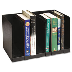 Buddy products - six section book rack w/dividers, steel, 15 x 9 1/4 x 9 1/4, black, sold as 1 ea