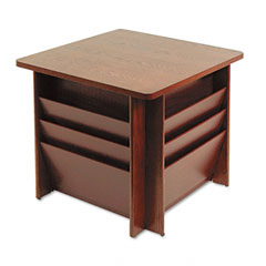 Buddy products - reception tables, square, 23-1/4w x 23-1/4d x 21h, mahogany, sold as 1 ea