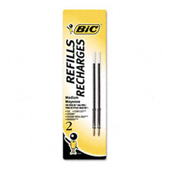 Bic - refill for velocity & widebody retractable ballpoint, medium, blk, 2/pack, sold as 1 pk
