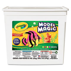 Crayola - model magic modeling compound, 8 oz each/neon, 2 lbs, sold as 1 ea