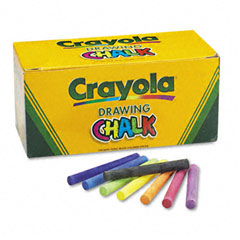 Crayola - colored drawing chalk, six each of 24 assorted colors, 144 sticks/set, sold as 1 st