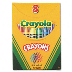 Crayola - classic color pack crayons, tuck box, 8 colors/box, sold as 1 bx