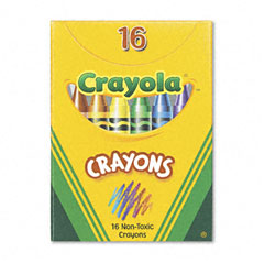 Crayola - classic color pack crayons, tuck box, 16 colors/box, sold as 1 bx