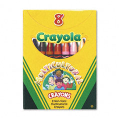 Crayola - multicultural crayons, 8 skin tone colors/box, sold as 1 bx