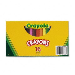 Crayola - large crayons, 16 colors/box, sold as 1 bx
