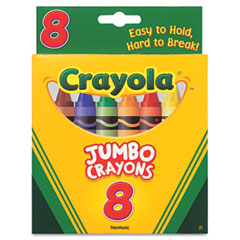 Crayola - so big crayons, large size, 5 x 9/16, 8 assorted color set, sold as 1 bx