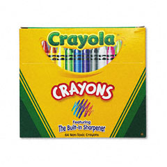 Crayola - classic color pack crayons, assorted 64/box, sold as 1 bx