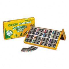 Crayola - construction paper crayons, wax, 25 each of 16 colors, 400/box, sold as 1 bx