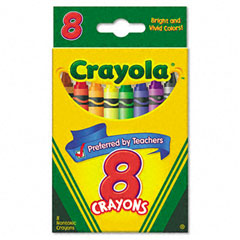 Crayola - classic color pack crayons, 8 colors/box, sold as 1 bx