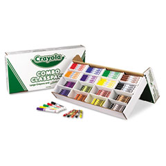 Crayola - classpack crayons w/markers, 8 colors, 128 each crayons/markers, 256/box, sold as 1 bx
