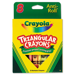 Crayola - triangular crayons, 8 colors/box, sold as 1 bx