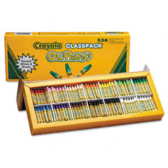 Crayola - oil pastels,12-color set, assorted, 336/pack, sold as 1 pk