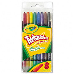 Crayola - twistable crayons, 8 traditional colors/set, sold as 1 st