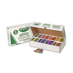 Crayola - classpack regular crayons, 8 colors, 800/bx, sold as 1 bx