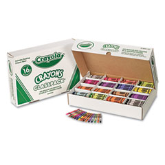 Crayola - classpack regular crayons, 16 colors, 800/bx, sold as 1 bx