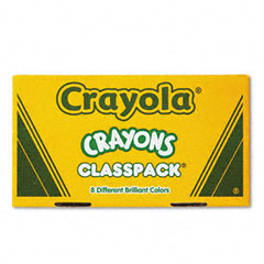 Crayola - classpack regular crayons, 50 each of 8 colors, 400/box, sold as 1 bx