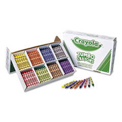 Crayola - jumbo classpack crayons, 25 each of 8 colors, 200/box, sold as 1 st
