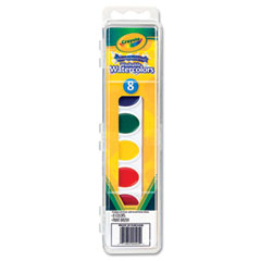 Crayola - washable watercolor paint, 8 assorted colors, sold as 1 ea