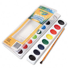 Crayola - washable watercolor paint, 16 assorted colors, sold as 1 ea