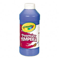 Crayola - premier tempera paint, blue, 16 oz, sold as 1 ea