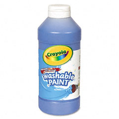 Crayola - washable paint, blue, 16 oz, sold as 1 ea