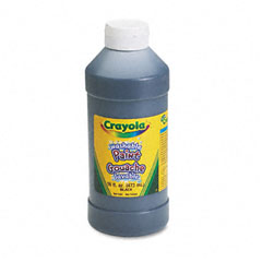 Crayola - washable paint, black, 16 oz, sold as 1 ea