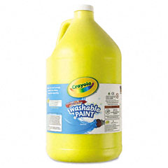 Crayola - washable paint, yellow, 1 gal, sold as 1 ea